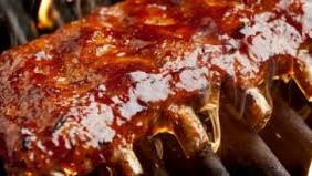 Spare ribs from the BBQ